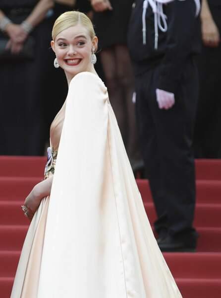 Elle Fanning, visiblement ravie de faire partie du jury de cette 72è édition du festival de Cannes
