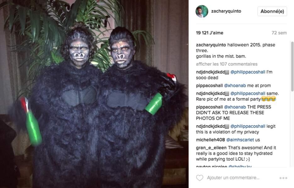 Pour Halloween, ils s'accordent sur le costume et c'est réussi !