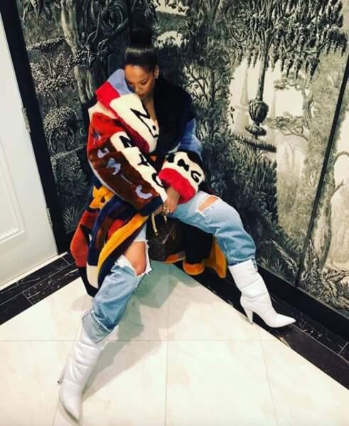 Rihanna et sa tapisserie