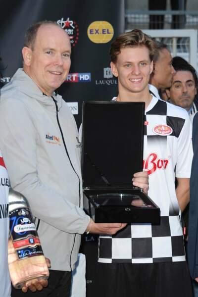 Mick Schumacher et le prince Albert avaient le sourire