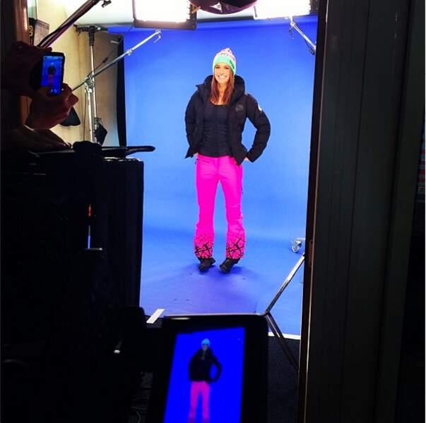 les tournages pour la télé (on adore le pantalon fluo !)