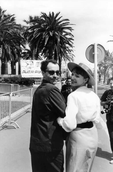 Jean-Luc Godard et Anna Karina, son actrice fétiche, à Cannes.