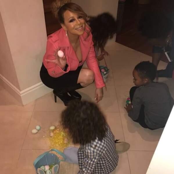 Mariah Carey a organisé une petite chasse aux œufs...
