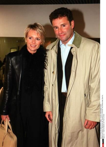 Avec son ex-mari Pierre Sled, en 2000