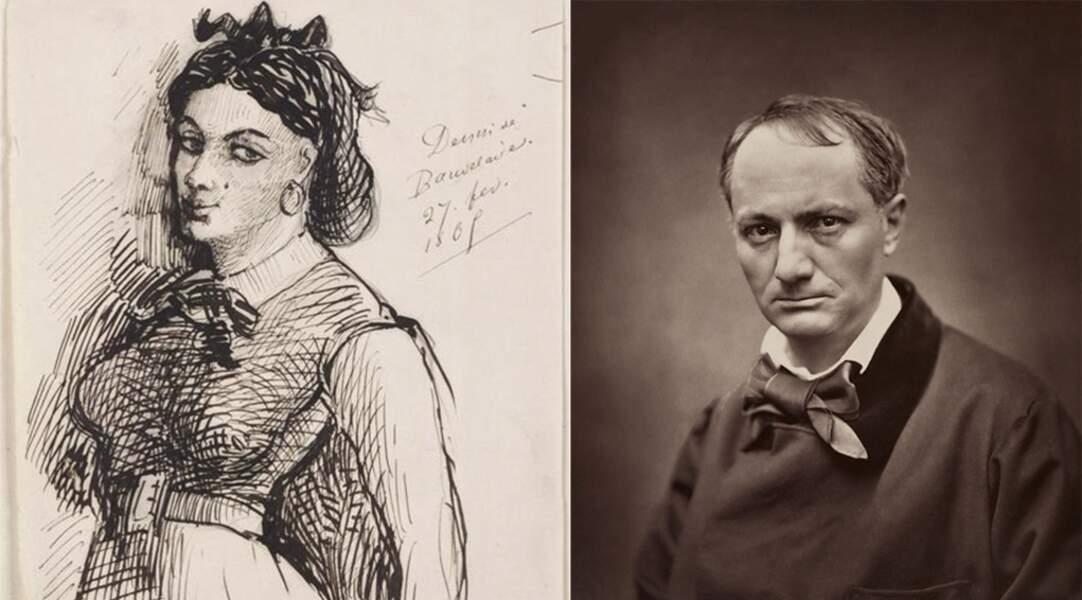 """Jeanne Duval, maîtresse de Charles Baudelaire, lui inspirera le poème sensuel """"Le serpent qui danse""""."""