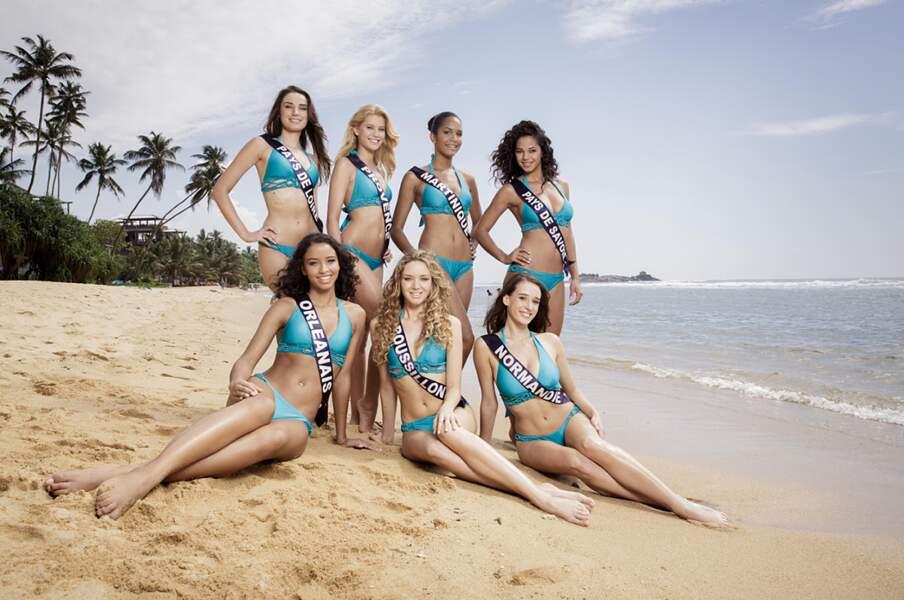 Miss Pays-de-Loire et Provence, Miss Martinique, Miss Pays de Savoie, Miss Orléanais, Miss Roussillon et Normandie