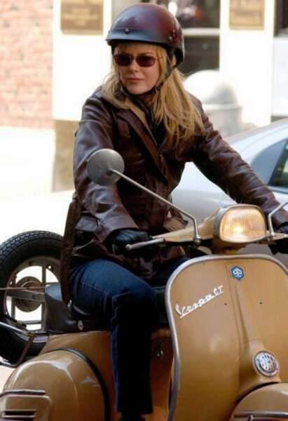 Nicole Kidman prête pour un petit tour en moto...