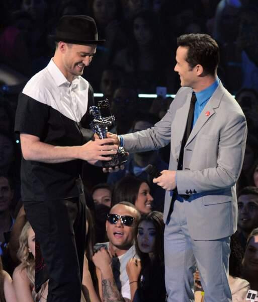 Et de un trophée pour sir Timberlake... Un !
