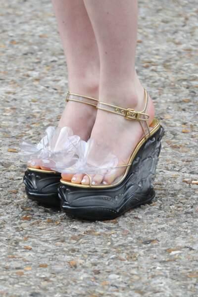 Et des chaussures qui ne sont pas passées inaperçues non plus