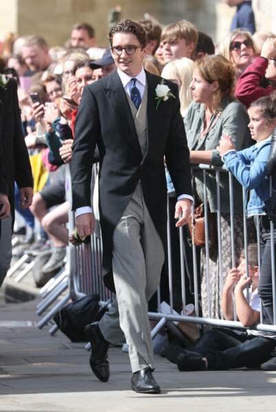 Le futur marié, Caspar Jopling, en route pour la cérémonie