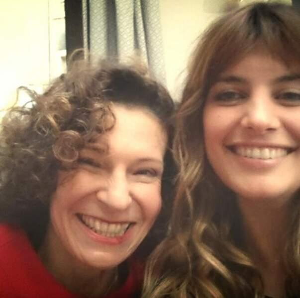 Sylvie Flepp et Laetitia Milot, amies à la ville comme à l'écran.