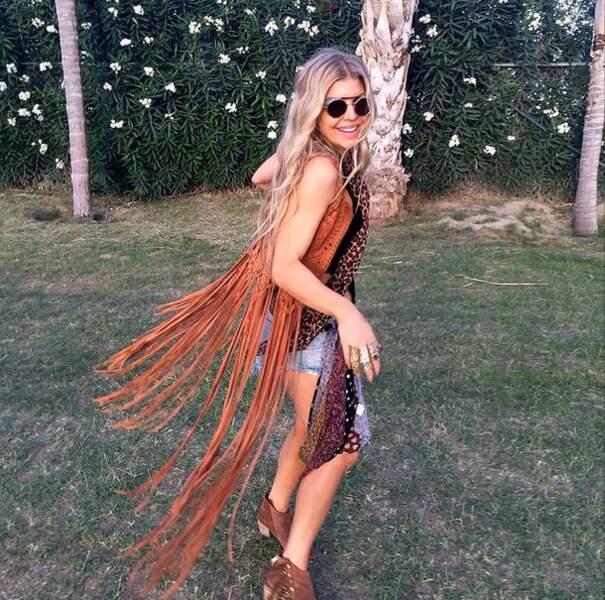 Fergie avait également opté pour un look hippie.