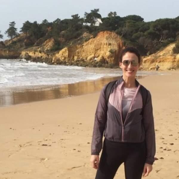 Linda Hardy était ravie d'être à Albufeira au Portugal.