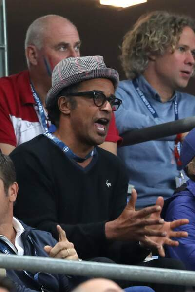 Yannick Noah encourage l'équipe de France