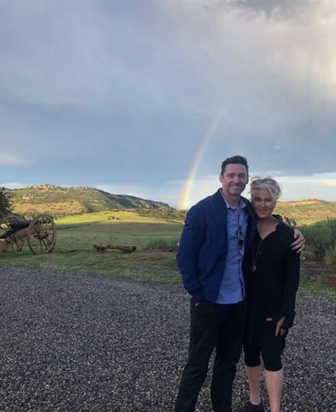 Un arc-en-ciel et un couple marié depuis 23 ans : cuteness overload.