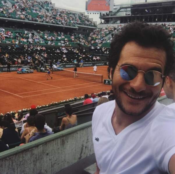 Ce veinard d'Amir a passé son dimanche à Roland-Garros.