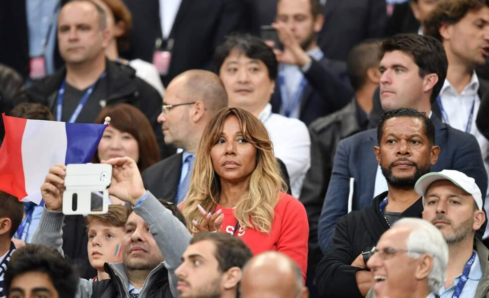 Cathy Guetta est venue voir les Bleus et écouter le tube de son ex-mari David, hymne de l'Euro