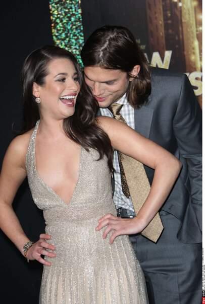 Lea Michele et Aston Kutcher très très complices