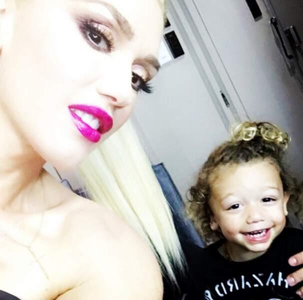 Le petit dernier de Gwen Stefani a grave la pêche.