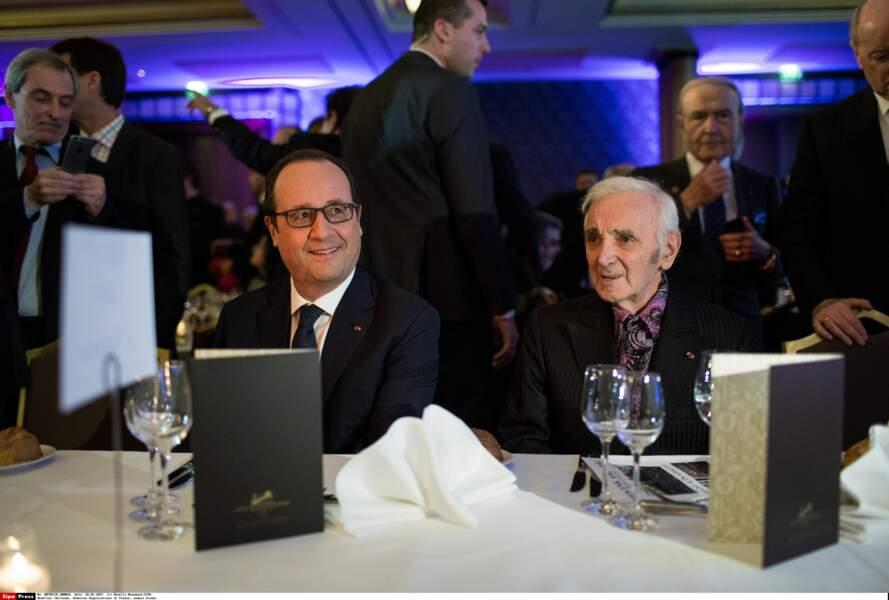 Avec François Hollande en janvier 2018 au dîner du Conseil de Coordination des organisations Arméniennes de France