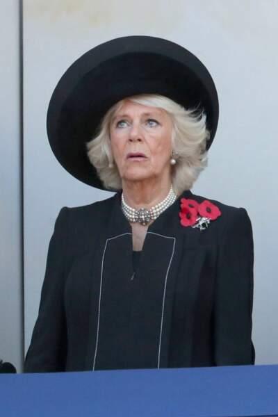 Camilla, duchesse de Cornouailles, lors de la commémoration du 11 novembre