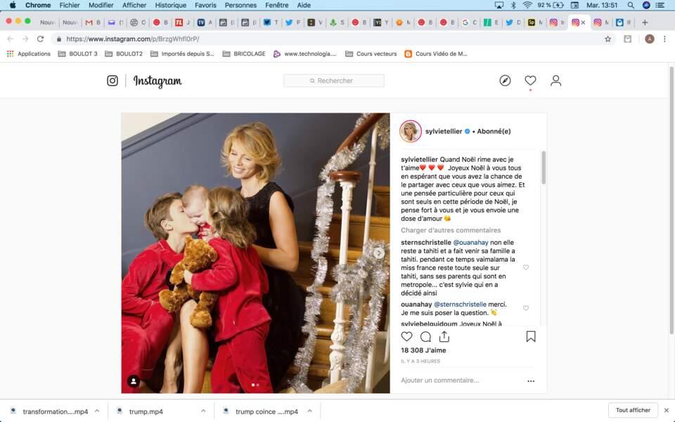 Adorable photo de famille pour Sylvie Tellier