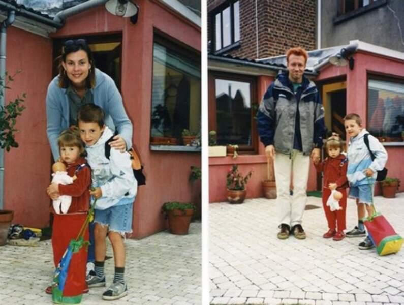 Angèle et son frère, Roméo Elvis, le jour de la rentrée scolaire