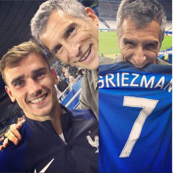 Nagui, chanceux, est allé saluer Antoine Griezmann