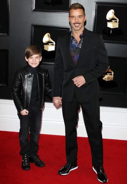 Ricky Martin et son fils