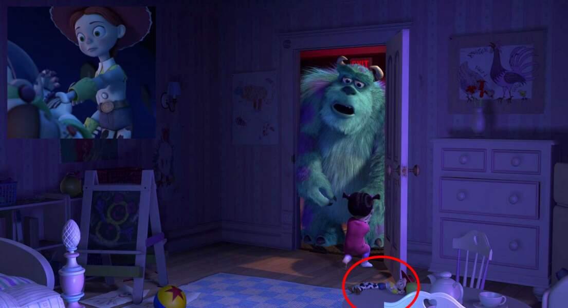 Monstres & Cie : La petite Bouh possède une poupée Jessie (Toy Story 2)