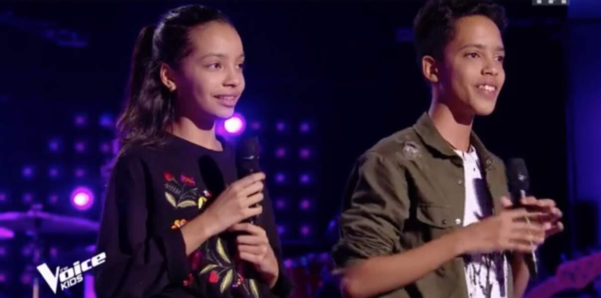 Camila et Zion Luna, frère et soeur, sont dans l'équipe de Jenifer
