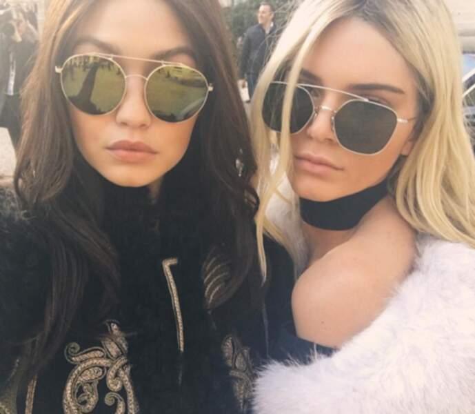 Et Kendall et Gigi ont échangé leurs couleurs de cheveux.