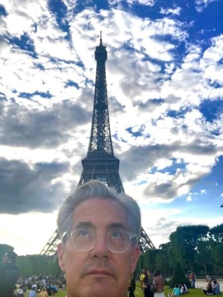 Point vacances : Kyle McLachlan était de passage à Paris.