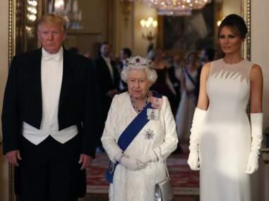 Banquet d'État à Buckingham pour la reine Elisabeth II et les Trump