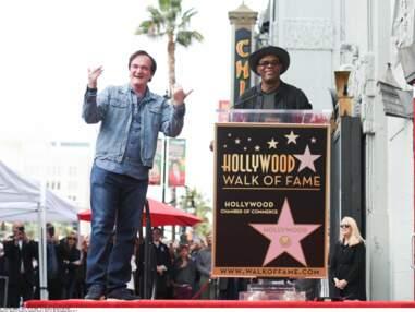 Fier, Quentin Tarantino inaugure son étoile à Hollywood avec sa compagne et Samuel L.Jackson