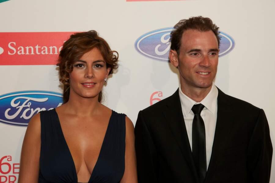 Alejandro Valverde et sa compagne, Natalia Mateo