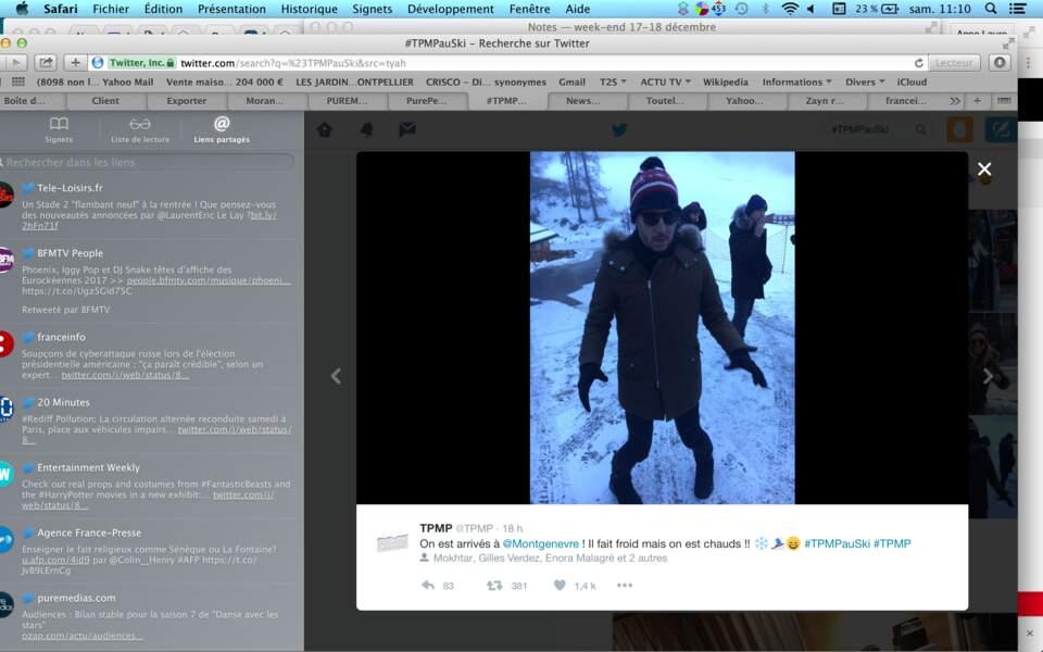 A peine arrivé à Montgenèvre, Jean-Luc Lemoine se met en mode chasse-neige