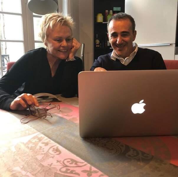 Elie Semoun et Murielle Robin... peut-être un nouveau spectacle en écriture ?