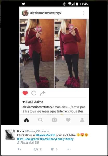 Alexia Mori, de Secret Story 7, est elle aussi enceinte. MàJ : il est né en mai