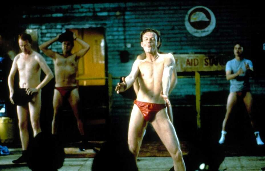 """Steve Huison, Tom Wilkinson, Hugo Speer, Robert Carlyle, alias les """"chippendales"""" de The Full Monty"""