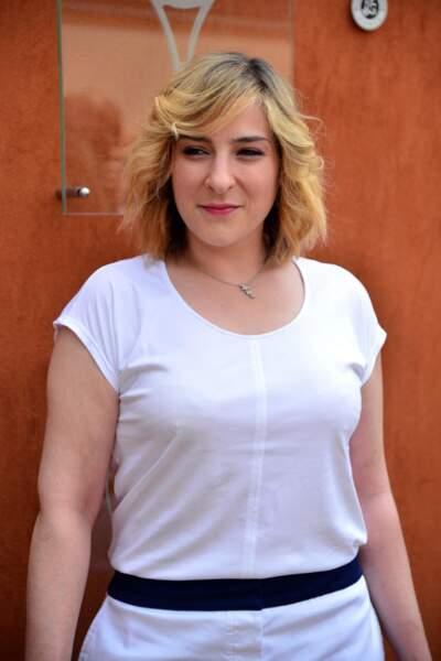 Marilou Berry, toute de blanc vêtue