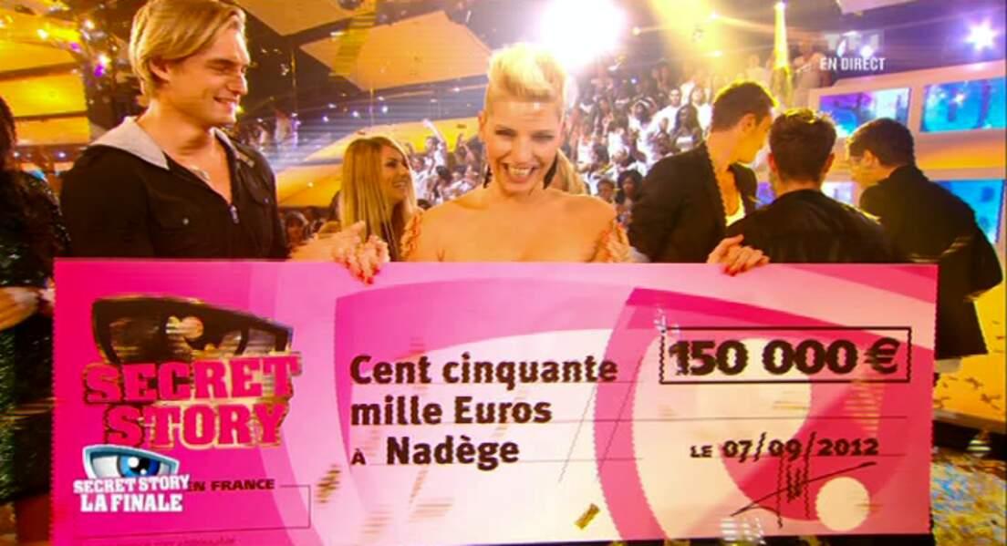 Nadège et son chèque de 150.000 euros