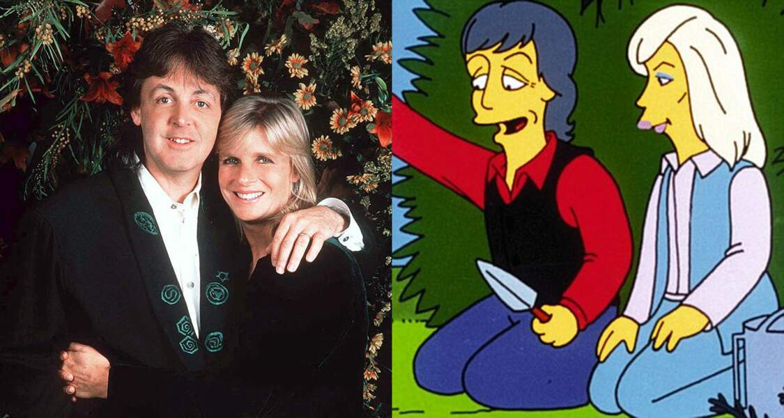 Paul McCartney et son ancienne femme Linda