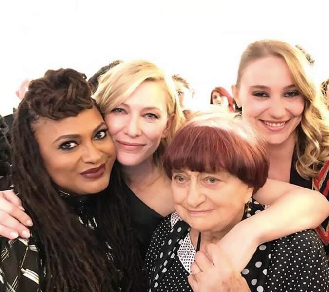 Deborah François a posté un selfie avec Agnès Varda et Cate Blanchett