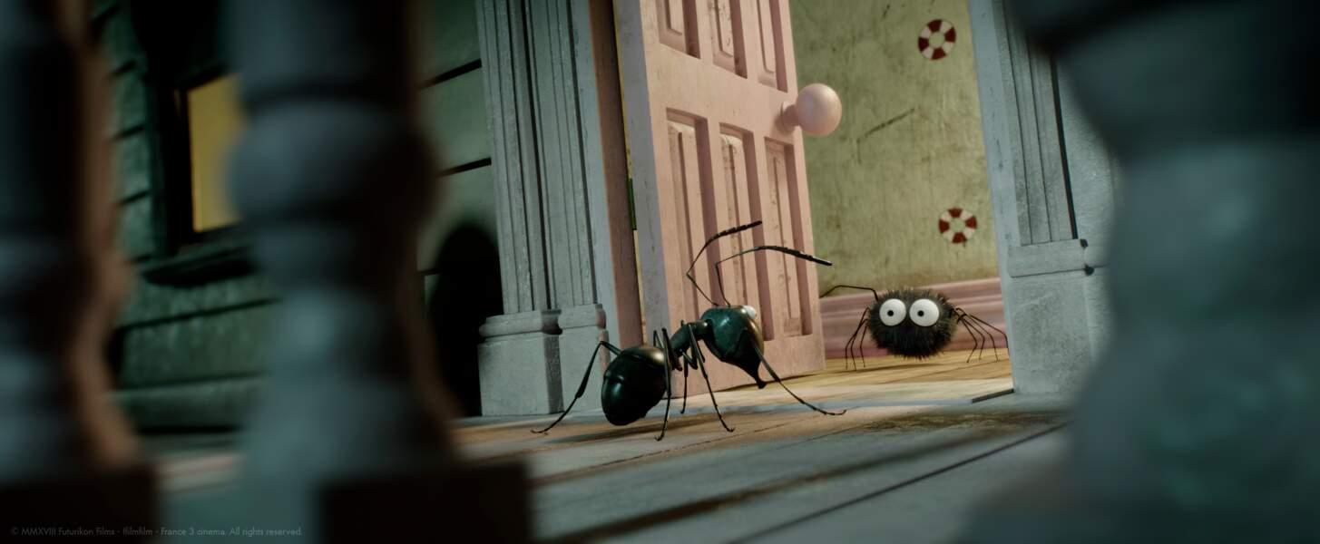 La fourmi vient lui demander de l'aide