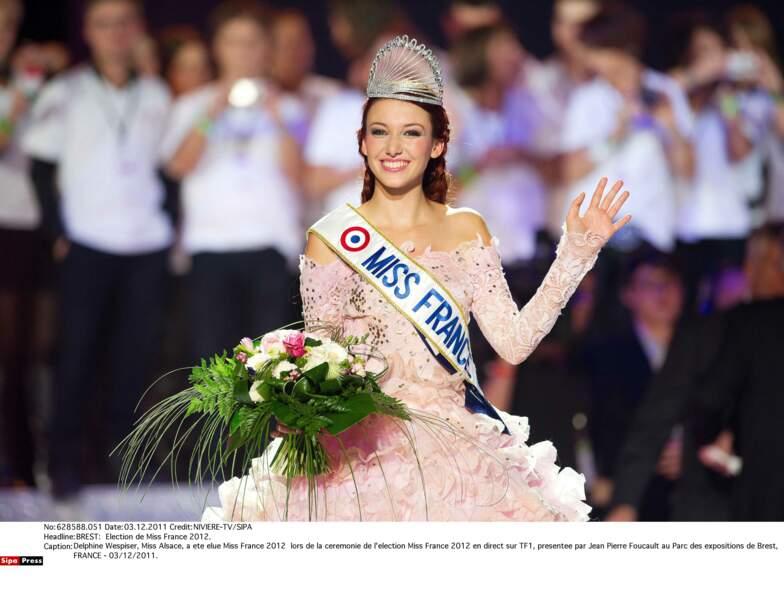 Miss France 2012 : Delphine Wespiser (Miss Alsace)