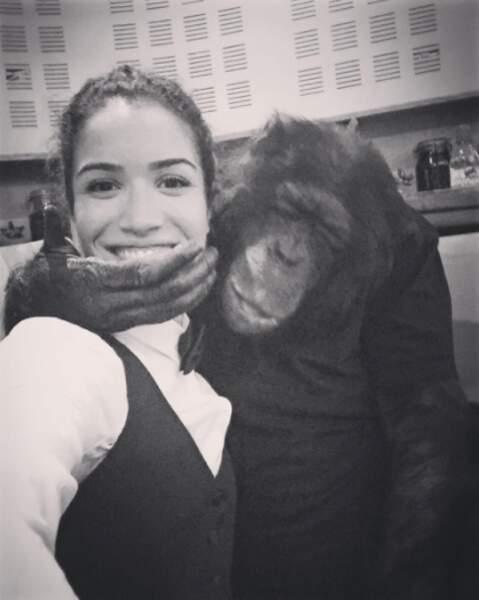 """Elle a tourné avec un chimpanzé dans """"Ouvert la nuit"""" d'Edouard Baer"""