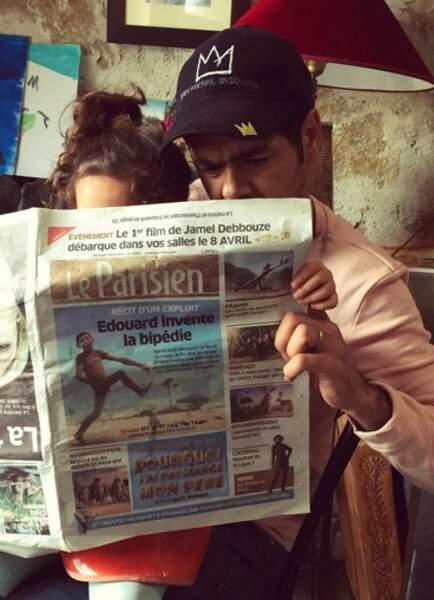 Instant mignon : Jamel Debbouze lit le journal avec sa fille Lila