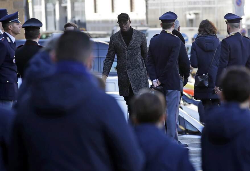 Mario Balotelli est également venu dire au revoir à son confrère