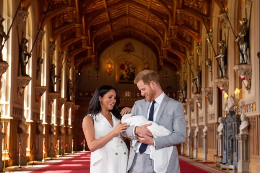 … Meghan Markle et le prince Harry présentaient au monde…
